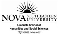 Welcome to the Graduate School of Humanities and Social Sciences (SHSS) at Nova Southeastern University!
